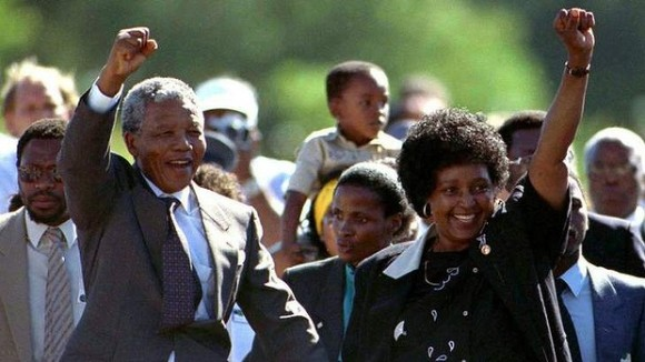 mandela leaves prison