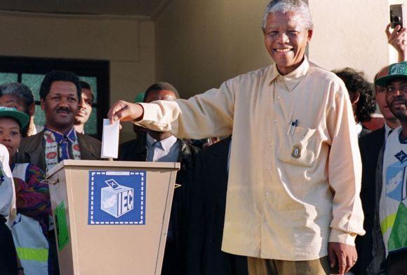 mandela votes