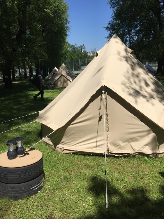 yurt outside